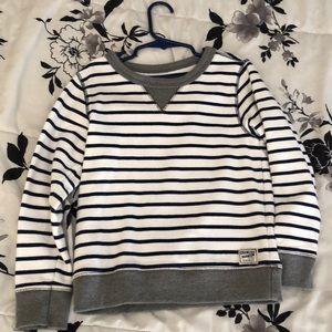 Navy Blue/White stripe sweater